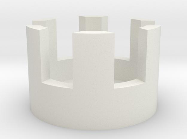 37 splined locking cylinder in White Natural Versatile Plastic