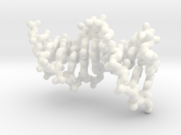 DNA Helix - polynucleotide molecule in White Processed Versatile Plastic