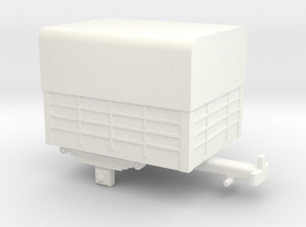 Single-axle trailer in White Processed Versatile Plastic