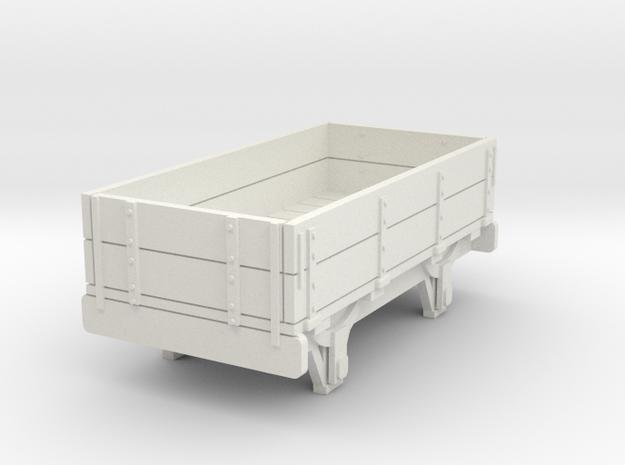 0-re-87-eskdale-2-plank-wagon in White Natural Versatile Plastic