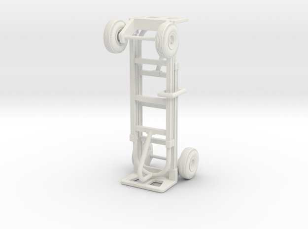 1:18 Scale 2-Wheel Dolly/Hand Truck (2-Pack) in White Natural Versatile Plastic