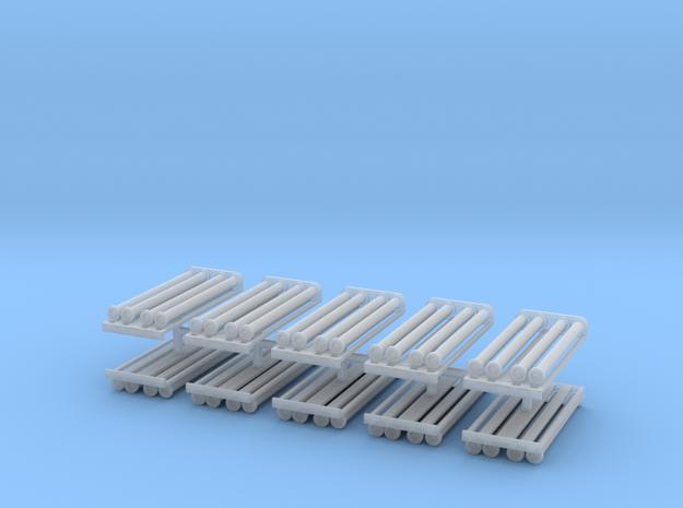 Saugschlauchsatz A 2,5m mit Rost 10erSet - 1:87 H0 in Smooth Fine Detail Plastic