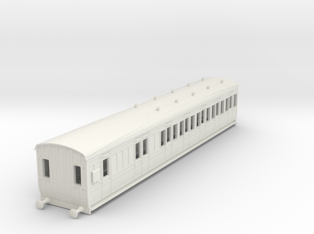 o-87-gcr-london-sub-brake-3rd-coach in White Natural Versatile Plastic