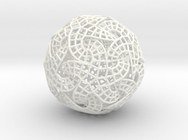 Infinity Loop in White Processed Versatile Plastic