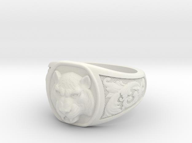 Tiger ring # 3 in White Natural Versatile Plastic