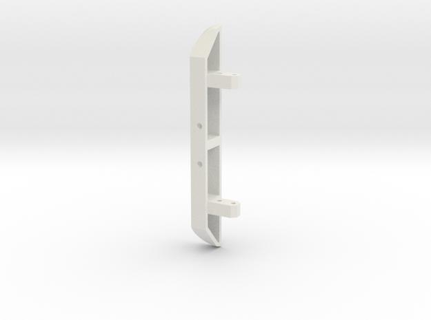 JaBird RC Rear Bumper - Narrow in White Natural Versatile Plastic