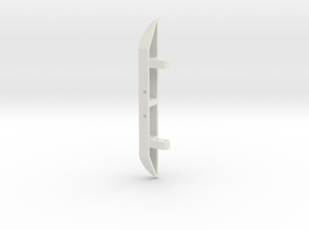 JaBird RC Rear Bumper - Wide in White Natural Versatile Plastic