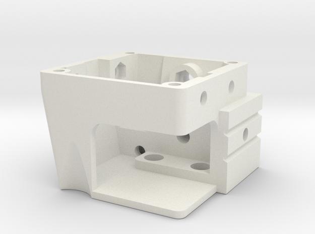 Creality printhead - Hotend shroud in White Natural Versatile Plastic