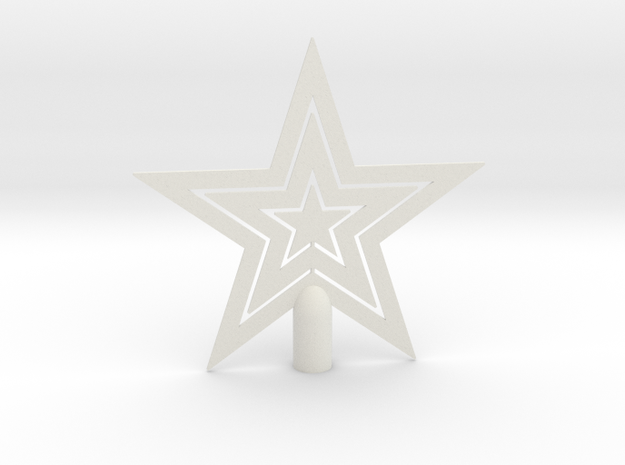 "Star tree topper Christmas - Large Strong 24cm 9½"" in White Natural Versatile Plastic: Large"