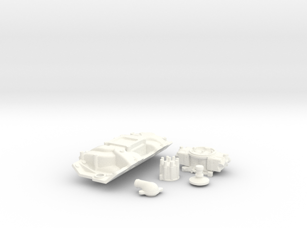 1/8 Scale Stock BBC 4 BBL Intake Kit 3d printed