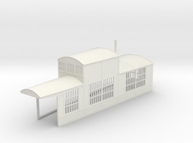 z-160-roundhouse-9-deg-right-side-section-1 in White Natural Versatile Plastic