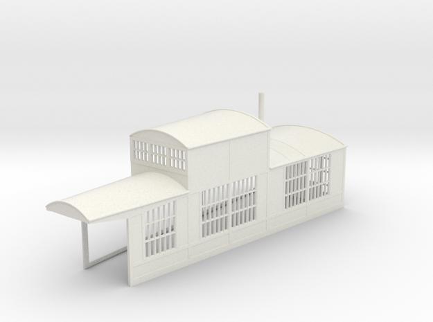 z-160-roundhouse-10-deg-right-side-section-1 in White Natural Versatile Plastic