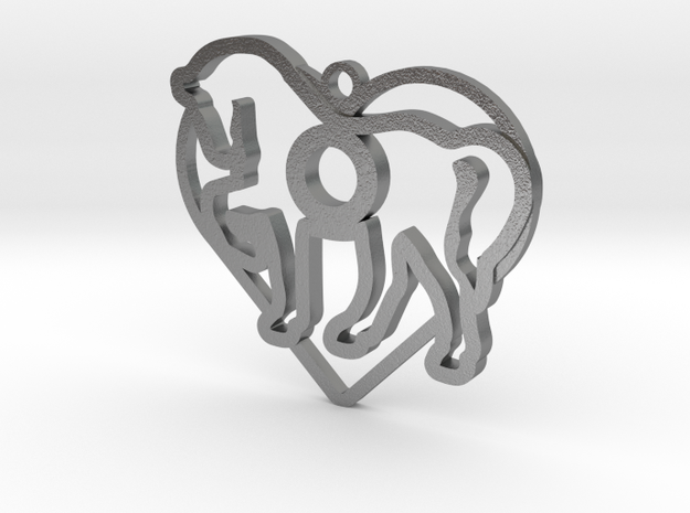 cheval-coeur-08 in Natural Silver