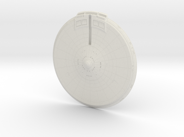 1400 Discovery Enterprise Saucer in White Natural Versatile Plastic