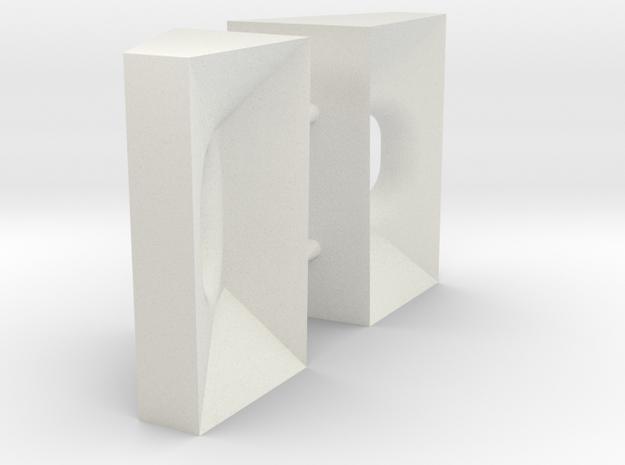 ASD3213 - fairlead (2 psc) in White Natural Versatile Plastic