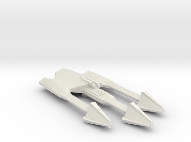 3788 Scale Ymatrian Double-Axe Command Cruiser MGL in White Natural Versatile Plastic