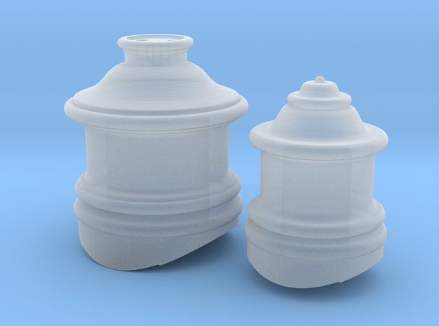 HO Scale Fluted Domes for Steam Locomotive