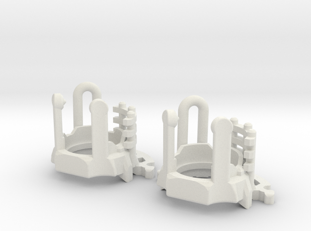 ASK Luke V2 Chassis Part3 in White Natural Versatile Plastic