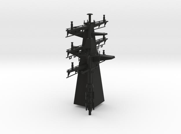1/96 scale Bergamini - Rear mast in Black Premium Versatile Plastic