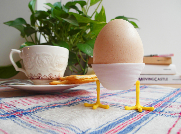 Little Feet - Eggcup (Body) in White Strong & Flexible