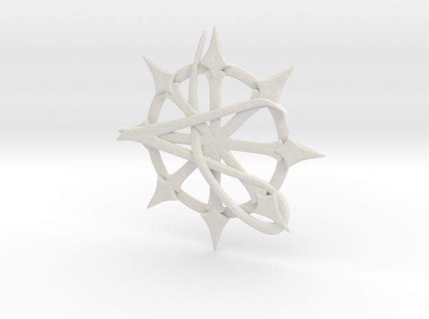 Anarchy Star pendant in White Natural Versatile Plastic
