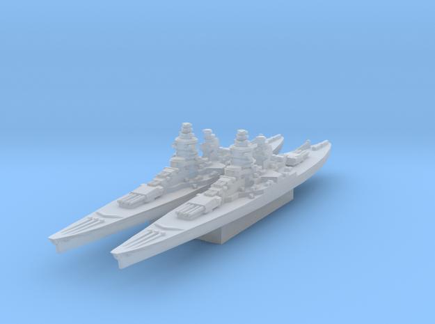 Gascogne battleship (Axis & Allies) in Smooth Fine Detail Plastic