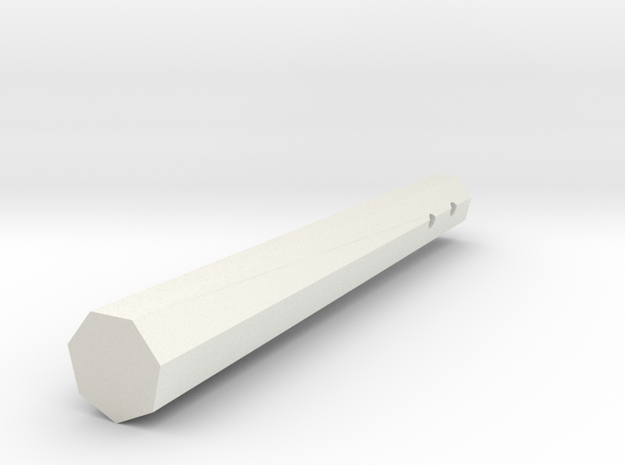 Nunchuck in White Natural Versatile Plastic