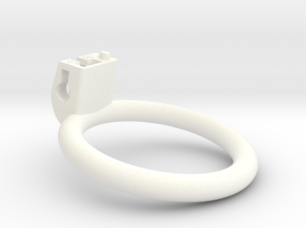 Cherry Keeper Ring - 50mm Flat +11° in White Processed Versatile Plastic