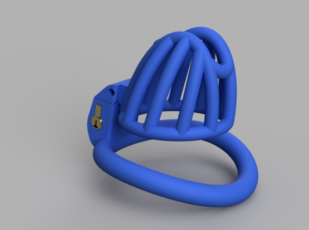 Cherry Keeper Cage - Small in Blue Processed Versatile Plastic
