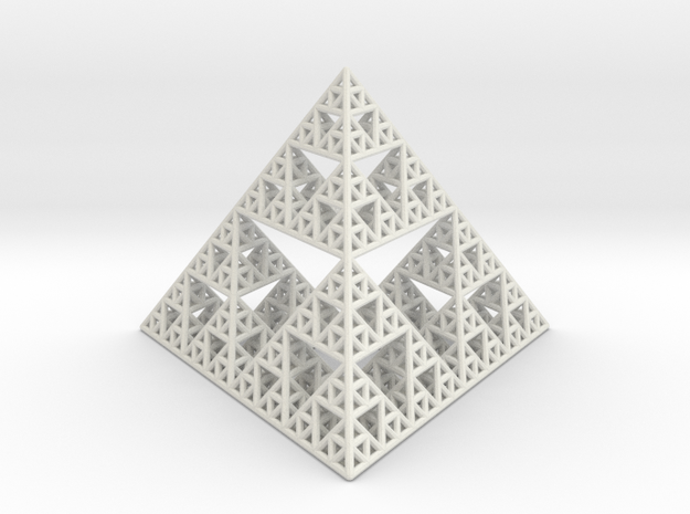 Sierpinski Pyramid in White Strong & Flexible