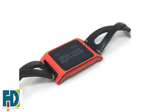 Pebble 2 smartwatch bumper in Red Processed Versatile Plastic