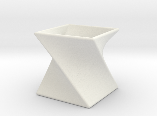 Twist Box II in White Natural Versatile Plastic