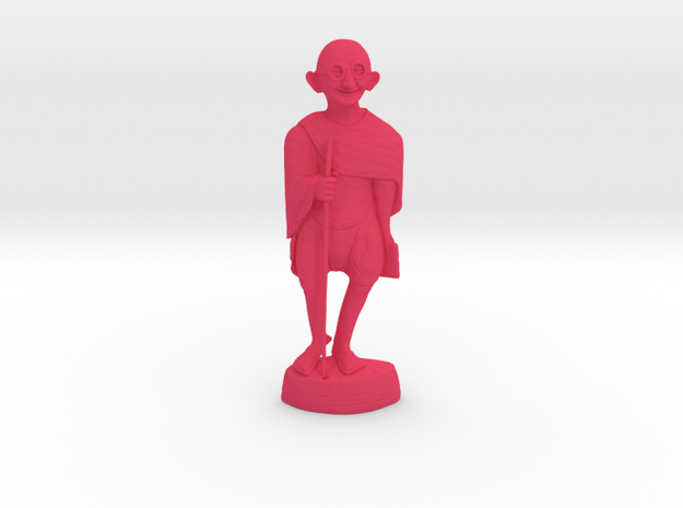 Gandhi Wood v2 in Pink Processed Versatile Plastic: Medium