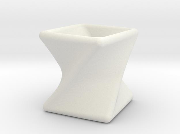 Twist Box I in White Natural Versatile Plastic