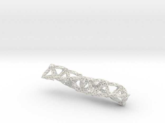 Tetrahedral Fractal Truss in White Natural Versatile Plastic