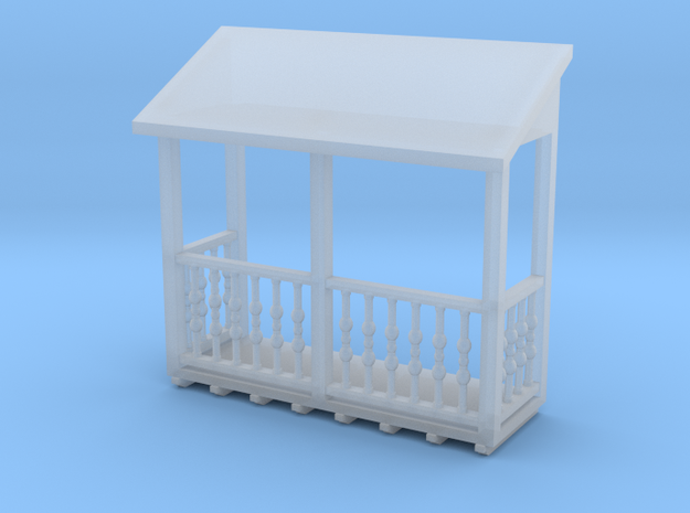 """'N Scale' - Balcony 3'-6"""" x 10'-0"""" in Smooth Fine Detail Plastic"""