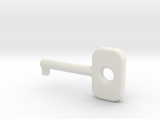 Cuff Key in White Natural Versatile Plastic