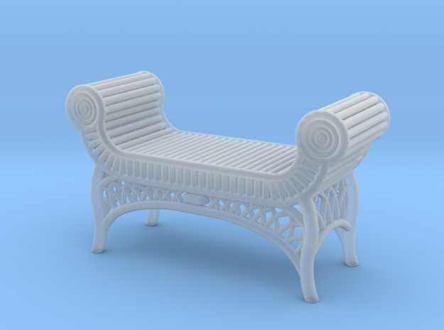 1:48 Nob Hill Wicker Bench in Smoothest Fine Detail Plastic
