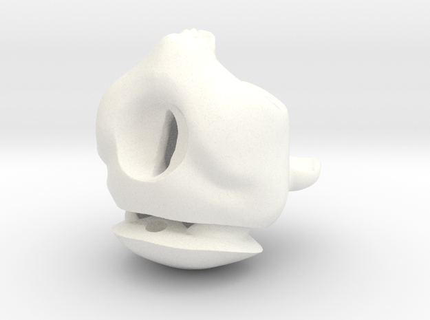 """Werewolf Nino"" BJD head in 1/4th size (MSD) in White Processed Versatile Plastic"