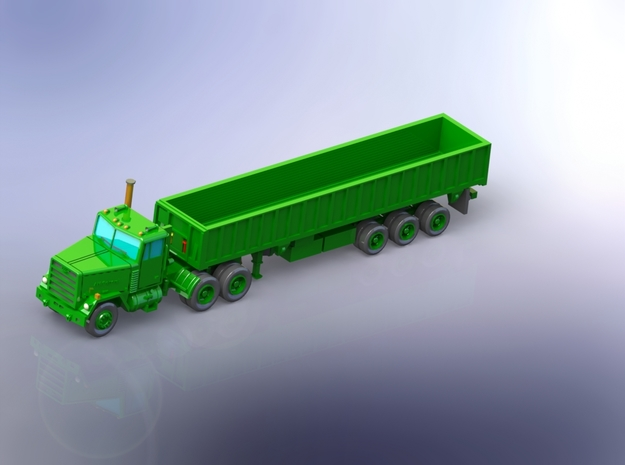 M915 Tractor w. M872 Breakbulk-Trailer 1/160 in Smooth Fine Detail Plastic