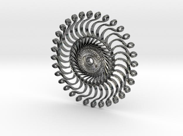 :Steampunk Kaleidoscope: Pendant 3d printed