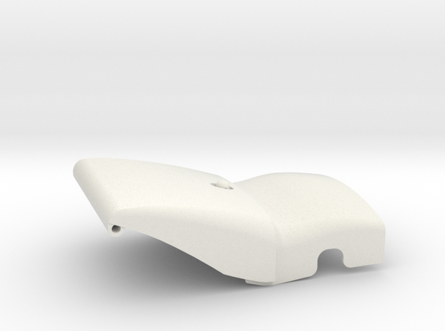 2.2M Ventru front cover part 1 and 2 in White Natural Versatile Plastic