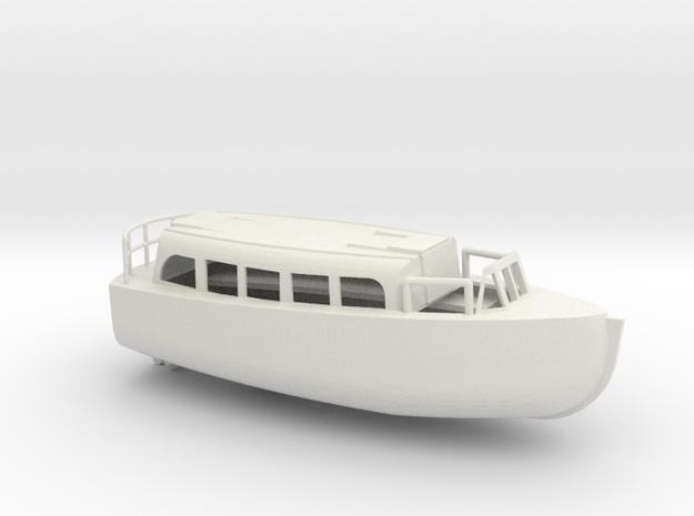 1/96 Scale 28 ft Personnel Boat Mk 4 in White Natural Versatile Plastic