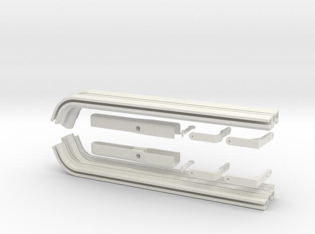 EC135 Sliding Door System Kit 1/4 in White Natural Versatile Plastic
