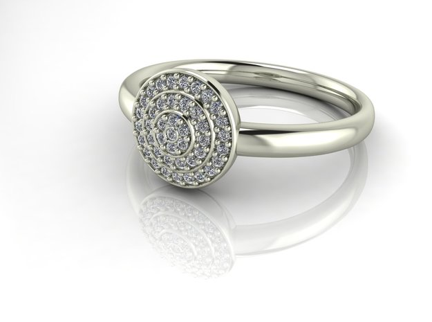 Grace collection 21 NO STONES SUPPLIED in Fine Detail Polished Silver