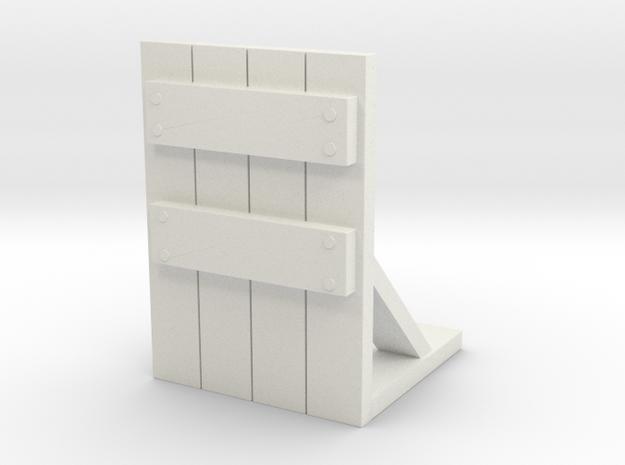 Wooden Barricade 1/56 in White Natural Versatile Plastic