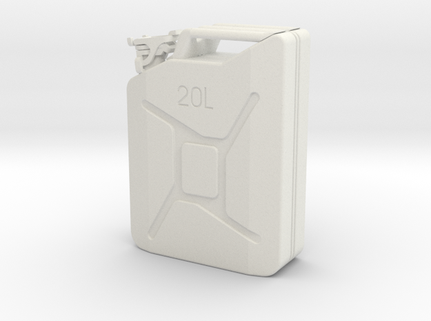 Jerrycan 1 to 10 in White Natural Versatile Plastic
