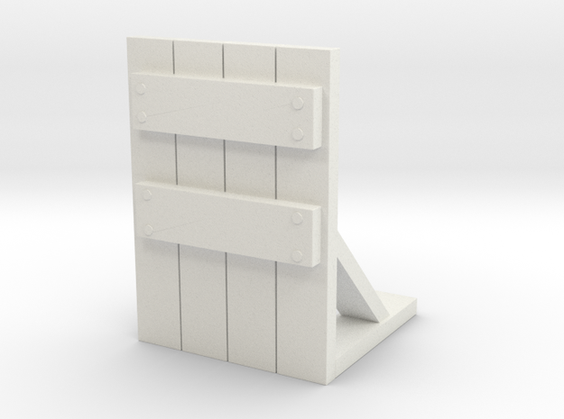 Wooden Barricade 1/43 in White Natural Versatile Plastic