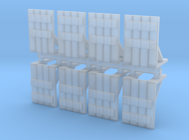 Wooden Barricade (x8) 1/200 in Smooth Fine Detail Plastic