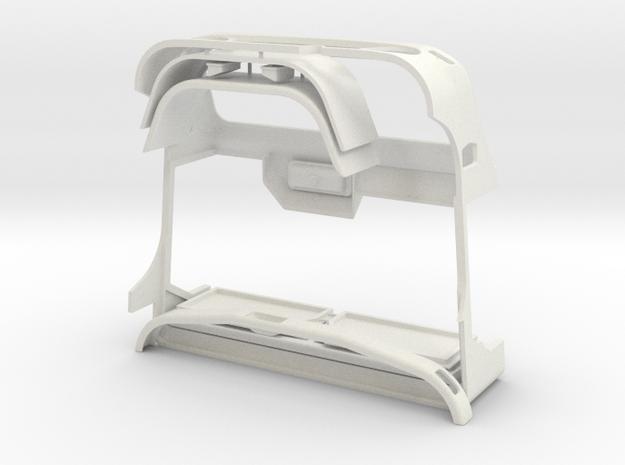 WWII Military Hard Body 1/9 like Unimog U404S in White Natural Versatile Plastic